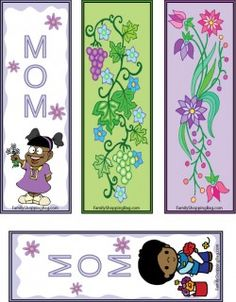 Mother's Day African Bookmarks printable