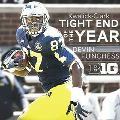 Tightend of the Year goes to... Devin Funchess of the Michigan Wolverines!!!