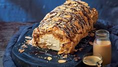 This mouth-wateringly good dessert from Irish celebrity chef Edward Hayden is perfect for the Christmas holidays. Expect drooling and people demanding seconds! A finger-licking dessert – watch this one disappear! Christmas Desserts, Fun Desserts, Delicious Desserts, Dessert Recipes, Christmas Recipes, Dessert Ideas, Yummy Food, Meringue Roulade, Zucchini Cake
