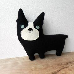 the+Dog++Plush+Wool+Pillow+by+ThreeBadSeeds+on+Etsy,+$60.00