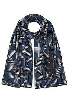 LUCIEN PELLAT-FINET  Printed Cotton Scarf with Cashmere | STYLEBOP.com