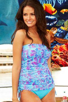 "Seaside Bandeau Paradise Tankini - 20% off with code ""violet20""."