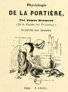feeding the cats | from Physiologie de la portière, by James Rousseau | illustration by Honoré DAUMIER