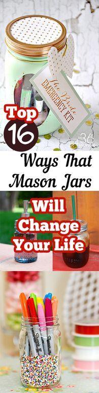 Creative and crafty ideas to use mason jars!