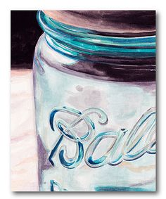Look at this Mason Jar II Gallery-Wrapped Canvas on #zulily today!