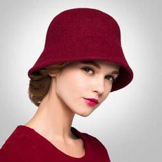 Plian wool coche hat for women fashion winter bucket hats 486b8cf7e6