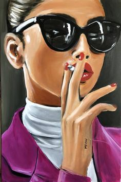Meow Painting by Maria Folger Canvas Art Projects, Diy Canvas Art, Pop Art Drawing, Art Drawings Sketches, Pop Art Wallpaper, Beauty Art, Face Art, Cartoon Art, Art Girl