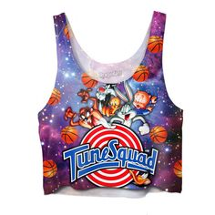 Space Jam Tune Squad Crop Top ($39) ❤ liked on Polyvore featuring tops and crop top