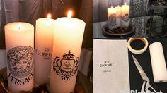 DIY Velas Chanel Versace Fácil Barata Ganhe Dinheiro JullyEspelho