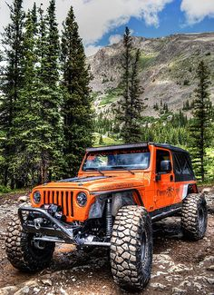 "This is my new favorite jeep because of the color, the lift, and because if you look above the wheel it says ""Daddy long legs"" and that used to be my nickname."