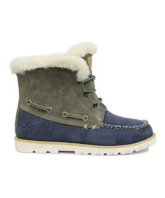 Look at this Dije Navy Adament Suede Boot on #zulily today!