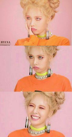 p i n t e r e s t /: GatiGatiHae Hyuna Red, Kim Hyuna, Triple H, Seungyeon Kara, Uee After School, Brown Eyed Girls, E Dawn, Korean Makeup, Mannequin