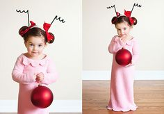 I love how adorable her little girl is as Cindy Lou Who for Christmas!