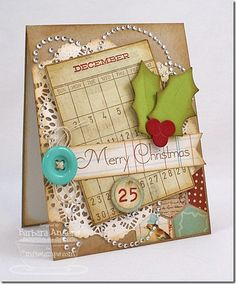 Merry Christmas - CTD #220 Eclectic collage card/tag/embellishment