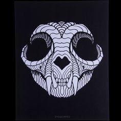 IHSQUARED Cat Skull Print