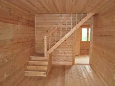 Small Space Staircase, Staircase Design, Loft Stairs, House Stairs, Tiny House Cabin, Tiny House Design, Attic Bedroom Designs, Rustic Stairs, Tiny House Listings