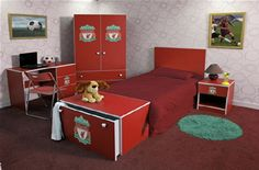 exciting football theme bedroom lfc room idea   Liverpool Fc Images