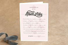 Mom Libs Mother's Day Greeting Cards by Lori Wemple at minted.com