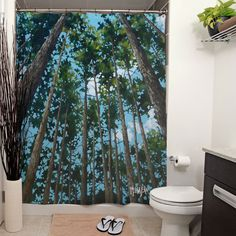 "As John Muir once said, ""Between every two pines is a doorway to a new world"", a world full of adventure and possibilities to explore deep in the heart of the forests of #LakeoftheWoods. With this unique shower curtain, you can finally bring the outdoorsy feeling inside with you."