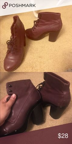 Aldo Chunky heeled boots Retro styled Chunky Aldo boots . Very comfy to walk in maybe 3-4 inch heel. Make a offer Aldo Shoes Ankle Boots & Booties