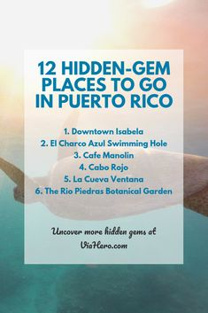 12 Hidden-Gem Places to Go in Puerto Rico - ViaHero Check out these 12 little-known places to go in Puerto Rico. From little-known towns to botanical gardens, you need to see these off-the-beaten-path gems. Puerto Rico Trip, Puerto Rico History, San Juan Puerto Rico, Puerto Rican Culture, Vacation Spots, Vacation Ideas, Caribbean Cruise, Puerto Ricans, Future Travel