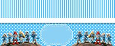 Smurfs: Free Printable Candy Bar Labels for Boys Party. Printable Labels, Free Printables, Candy Bar Labels, Oh My Fiesta, Disney Princess Party, Blogger Templates, Birthday Parties, Birthday Ideas, Party Themes