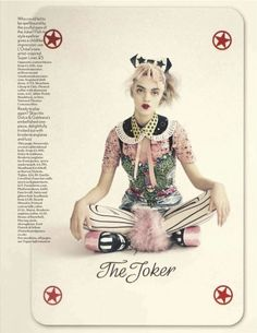 """The Joker's Wild"": Magda Laguinge on Playing Cards by Paolo Roversi for UK Vogue"