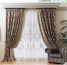 Prestige Allover - Chicca Orlando - Italian Craftmanship - Luxury texile furnitures for you home Living Room Decor Curtains, Gold Bedroom Decor, Living Room Decor On A Budget, Home Curtains, Living Room Designs, Glamour Living Room, Elegant Living Room, Classic Curtains, Elegant Curtains