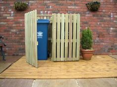 Image result for ways to hide trash cans outside