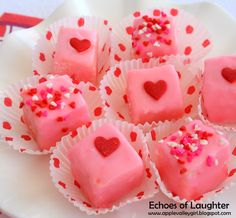 Echoes of Laughter: How to make Petit Fours (this shows Valentine but could be adapted to other occasions by changing colors)