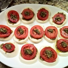 Mozzarella and Tomato Appetizer with pesto