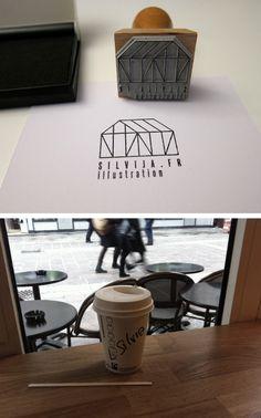 Got my stamp done today! My Stamp, Starbucks, Typography, Branding, Coffee, Logos, Tableware, Illustration, Diy