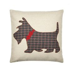 Debenhams Natural applique Scotty dog cushion- at Debenhams.com