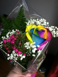 My rainbow rose!!!:D