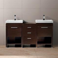 """Vigo Adonia 59.5"""" Double Bathroom Vanity Set"""
