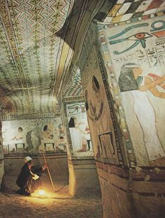 Tomb of Sennefer, Mayor of Thebes in 15th century Egypt (National Geographic | March 1977) National Geographic, March  1977