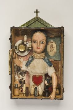 Jack Howe. If I had an old doll like that I would find it hard to part with it for an art piece....this artist is brave.