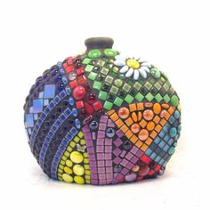Mosaic Vase in Unique Oval Shape Is Eye-Catcher in Any Room in Your House on Etsy, $150.00