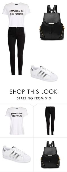 """""""casual"""" by ikatsamaki on Polyvore featuring Topshop and adidas"""