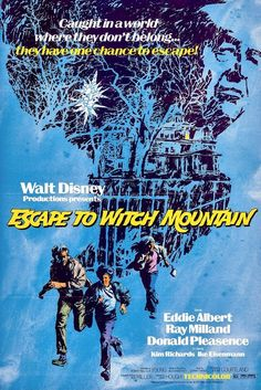 Escape to Witch Mountain: Disney's 1975 classic movie with two paranormal orphans & a flying Winnebago Walt Disney, Disney Live, Disney Stuff, Disney Magic, Disney Movie Posters, Disney Films, Pixar Movies, Indie Movies, Old Movies