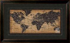 Old world map framed art print map frame room and house gumiabroncs Images