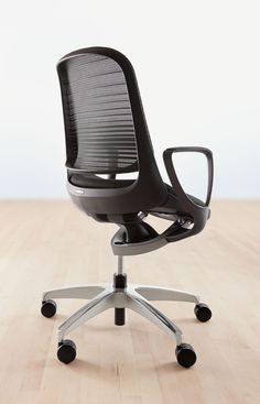 Room & Board - Luce Office Chair in Black - Modern Office Chairs & Task Chairs - Modern Office Furniture Used Office Chairs, Wooden Office Chair, Best Office Chair, Most Comfortable Office Chair, Office Chair Without Wheels, Office Furniture, Furniture Chairs, Furniture Ideas, Office Desk