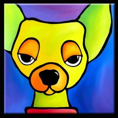 Original Abstract Painting Modern Dog Art by FIDOSTUDIO | eBay
