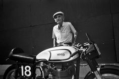 Gerry Hickman raced the Isle of Man in '47, '48, and '52. Here with his factory works Norton Manx, taking home the prize for Best Factory Racer (via Deus ex Machina USA)