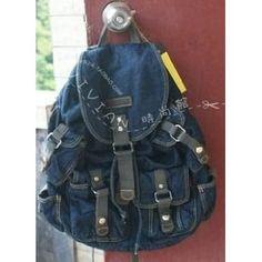 Denim Backpack, Fashion Backpack, School Bags, Navy Blue, Backpacks, Stylish, Backpack, Backpacker, Backpacking