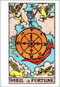 Wheel of Fortune - Rider-Waite Tarot Deck