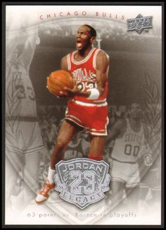 2009-2010 Michael Jordan Upper Deck Card # 5 Condition: NM/MT Number: 5 Year: 2009 / 2010 Sport: Basketball Team: Chicago Bulls Type: Upper Deck Jordan Legacy Card   Description This card is crease free, scratch free with sharp corners and excellent centering.