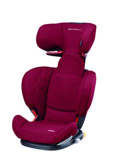 rodifix raspberry red o design aberto e os pontos ncora isofix que bloqueiam a cadeira