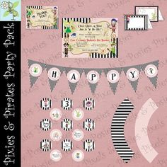 Custom Printable Party Package  Print Your Own by pixelsandposies, $25.00