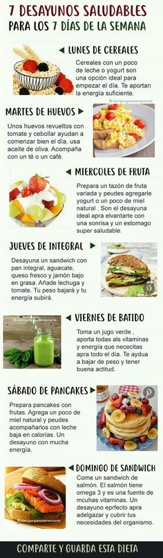 Desayuno semanal Frühstück - New Ideas Healthy Menu, Healthy Breakfast Recipes, Healthy Drinks, Healthy Cooking, Healthy Snacks, Healthy Eating, Healthy Recipes, Comida Diy, Real Food Recipes